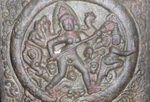 Bas relief of the goddess Kali.