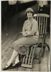 Anna Pavlova, ballet dancer, on board ship, Australian tour, 1929. Photographer: unknown. Source: State Library of NSW, acms.sl.nsw.gov.au/item/itemDetailPaged.aspx?itemID=441900