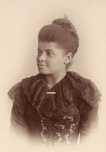 Investigative journalist and civil rights campaigner Ida B Wells, c 1893, Chicago, Illinois. Photographer: Mary Garrity. Sourced from Wikimedia Commons.