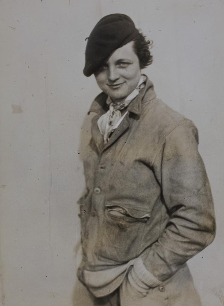 Woman wearing a beret.